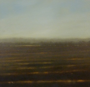 Flood Plain 2012, oil on linen 46x46 cms