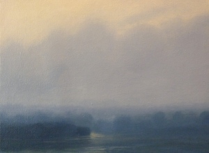 Lake Isle, 2012, oil on linen on board 30.5 x 40.5cms