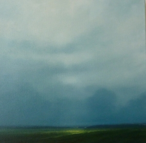 Clearing 2010 46 x 46cms oil on canvas
