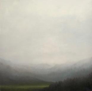 Wilderness 2018 oil on canvas 86 x 86 cms